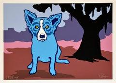 Blue For You - Signed Silkscreen Print Blue Dog