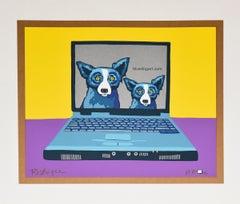 Bluedogart com - Signed Silkscreen Print Blue Dog