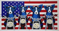 Easy Riders - Signed Silkscreen Print - Blue Dog