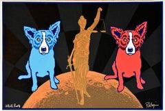 Equal Justice - Black - Signed Silkscreen Print Blue Dog