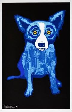 """Blue Dog """"City Slicker Black"""" Print Signed Numbered Artwork"""