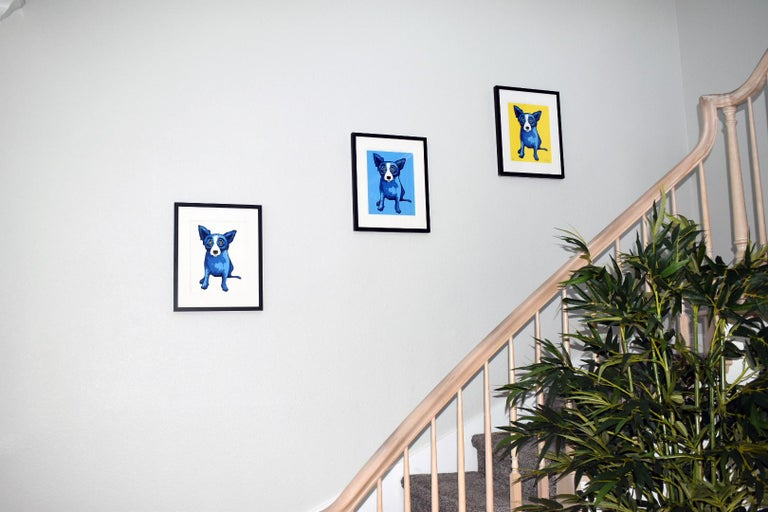 GEORGE RODRIGUE  BLUE DOG  PURITY OF SOUL  BLUE SKIES  SUNSHINE  SIGNED  - Print by George Rodrigue