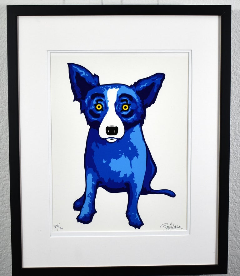GEORGE RODRIGUE  BLUE DOG  PURITY OF SOUL  BLUE SKIES  SUNSHINE  SIGNED  - Contemporary Print by George Rodrigue