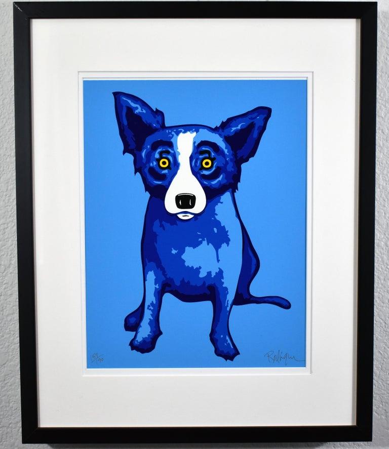 GEORGE RODRIGUE  BLUE DOG  PURITY OF SOUL  BLUE SKIES  SUNSHINE  SIGNED  - Beige Animal Print by George Rodrigue