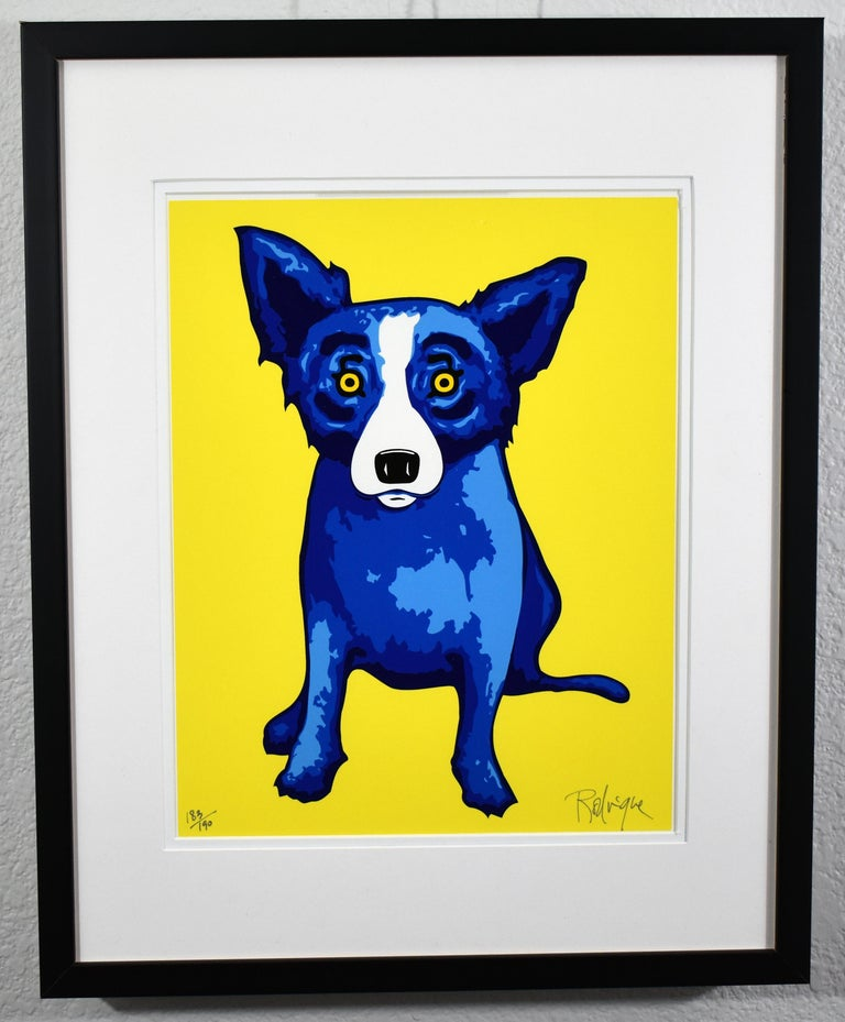 """In 2005 George Rodrigue created """"Sunshine On My Shoulder"""" and two other prints (""""Blue Skies Shining On Me"""" and """"Purity Of Soul"""") for his Tokyo gallery.  Located just meters away from some of the most exclusive boutiques in, the Blue Dog Gallery was"""