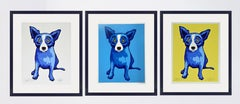 GEORGE RODRIGUE  BLUE DOG  PURITY OF SOUL  BLUE SKIES  SUNSHINE  SIGNED