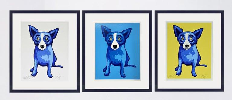 George Rodrigue Animal Print - GEORGE RODRIGUE  BLUE DOG  PURITY OF SOUL  BLUE SKIES  SUNSHINE  SIGNED