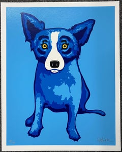 George Rodrigue - Blue Skies of Shining on Me Silkscreen Signed and numbered A/P