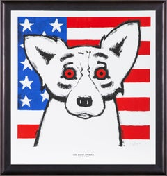 George Rodrigue God Bless America Sold Out Fundraising piece for 9/11 & Katrina
