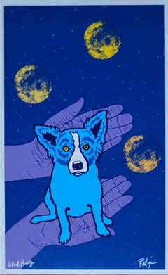Hands of Fate - Signed Silkscreen Print Blue Dog
