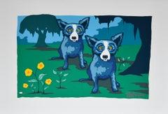 I Married Someone Like Me - Signed Silkscreen Blue Dog Print