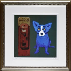 I'm the Real Thing Green - Signed Silkscreen Blue Dog Print