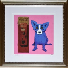 I'm the Real Thing Pink - Signed Silkscreen Blue Dog Print