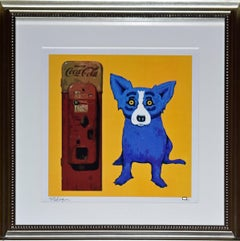 I'm the Real Thing  Yellow - Signed Silkscreen Blue Dog Print