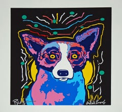 It's Party Time - Signed Silkscreen Blue Dog Print
