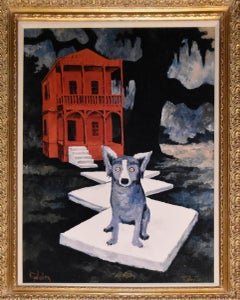 It's Tiffany - Giclee on Canvas Board - Signed -  Blue Dog
