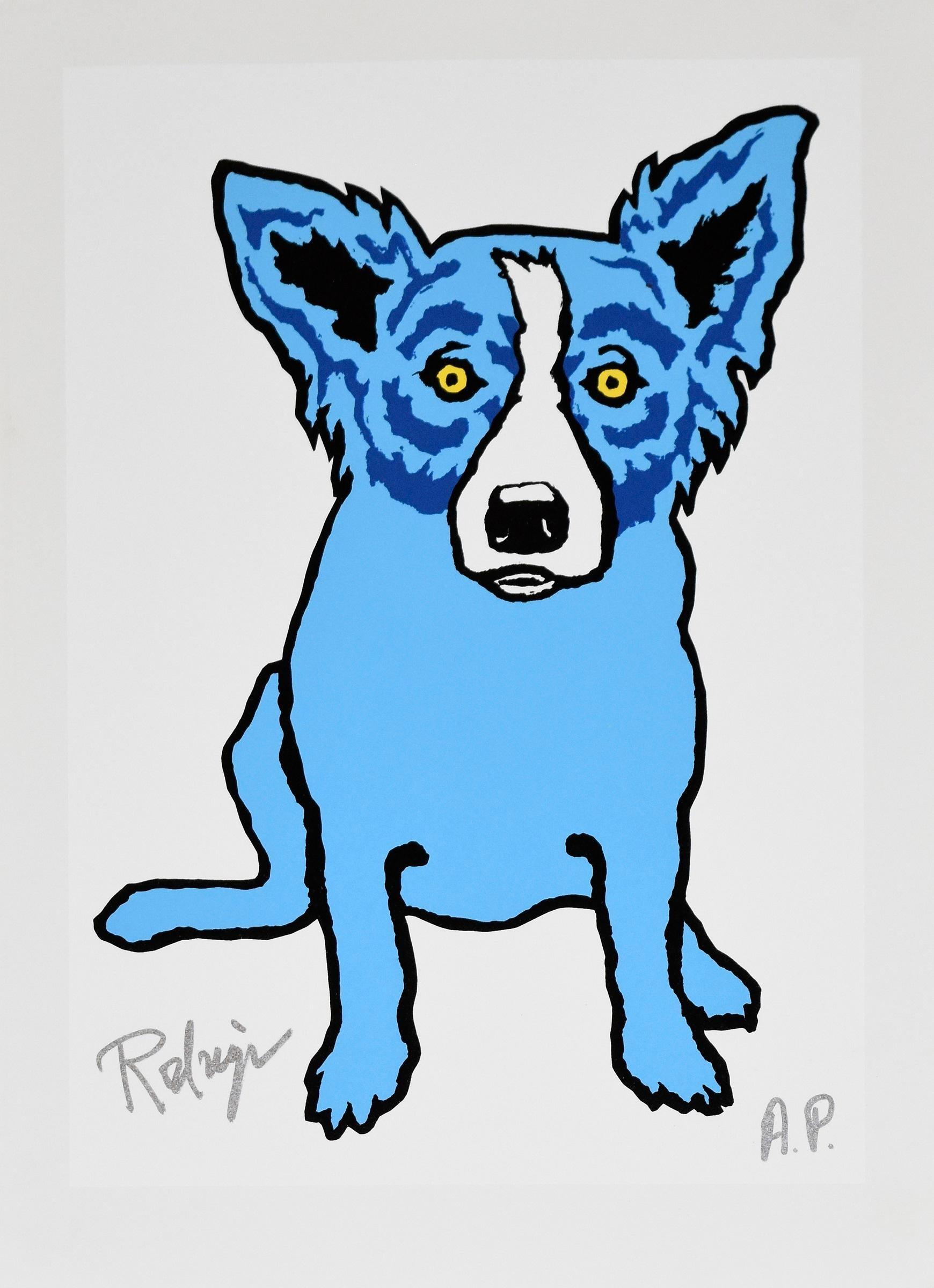 La Petite Femme Chere - Signed Silkscreen Print - Blue Dog