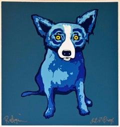 Li'l Blue Dog - Blue - Signed Silkscreen Print