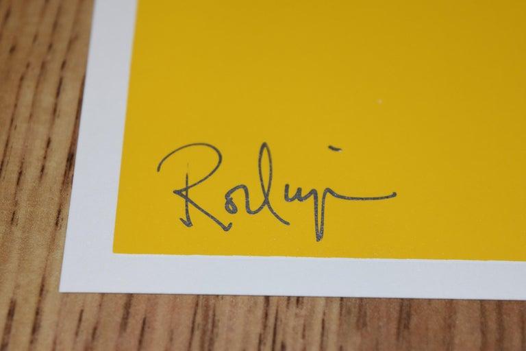 Li'l Blue Dog - Yellow - Signed Silkscreen Print Blue Dog For Sale 2