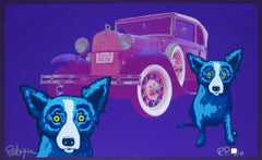 Louisiana Blue Dog Man - Signed Silkscreen Blue Dog Print