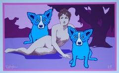 Love Among the Ruins - Signed Silkscreen Blue Dog Print