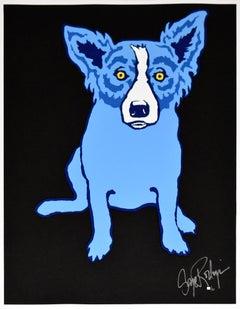 Midnight Blues - Signed Silkscreen Print Blue Dog