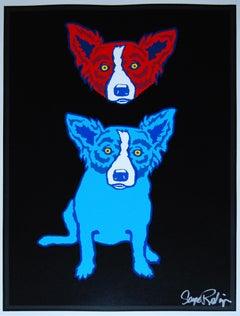 Mischief On My Mind - Silkscreen Signed Print Blue Dog