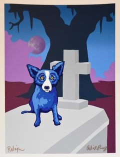 Moon Of The Loup-Garou - Signed Silkscreen Print Blue Dog
