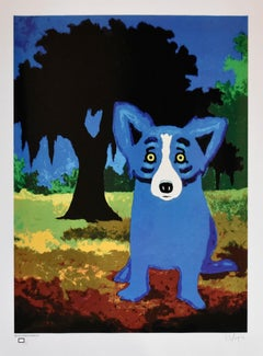 New Orleans City Park - Signed Silkscreen Print - Blue Dog
