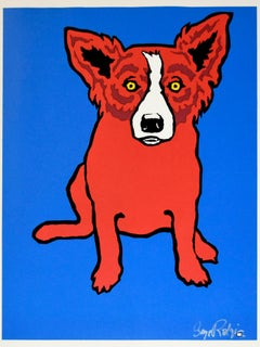 Red Dog - Signed Silkscreen Print Blue Dog