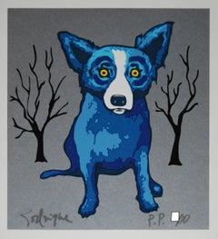 Silverado - Signed Silkscreen Blue Dog Print