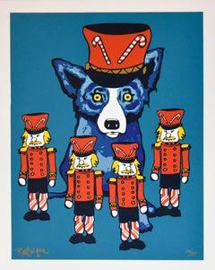 Soldier Boy - Signed Silkscreen Print Blue Dog Holiday Print Sale