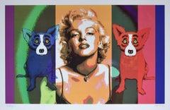Some Like It Hot - Signed Silkscreen Blue Dog Print