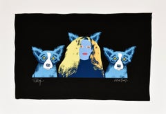 Soul Mates - Variant 4 - Signed Silkscreen Print Blue Dog
