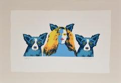 Soul Mates - Variant I - Signed Silkscreen Print - Blue Dog