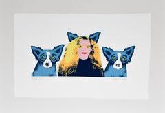 Soul Mates - Variant II - Signed Silkscreen Print - Blue Dog