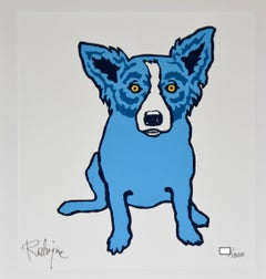 Untitled First Edition Blue Dog - Signed Silkscreen Print Blue Dog