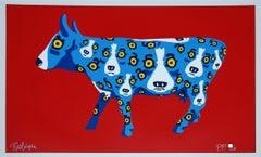 Walkin' Across Texas Red - Signed Silkscreen Blue Dog Print
