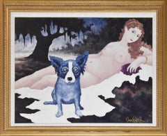 Wrong Century - Signed Giclee on Board Rare Blue Dog Print