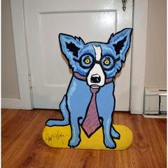 Original - Untitled Blue Dog Sculpture on Foamboard