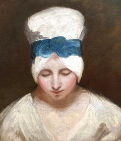 Head of Serena - George Romney - British - Oil on Canvas - 1798