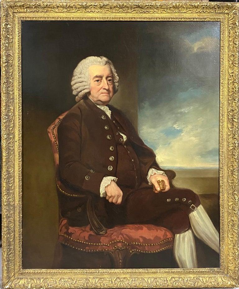 George Romney Portrait Painting - Portrait of John Smith