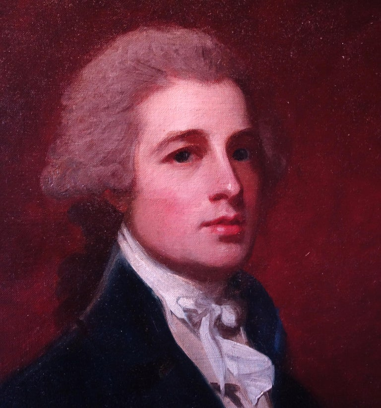 Portrait of Mr Holland, c. 1785 - Painting by George Romney