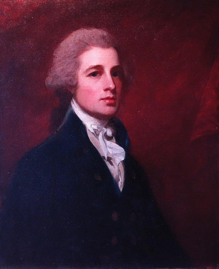 George Romney Portrait Painting - Portrait of Mr Holland, c. 1785