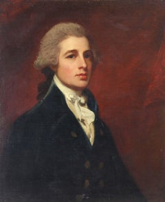 English 18th century portrait of Mr Holland, c. 1785