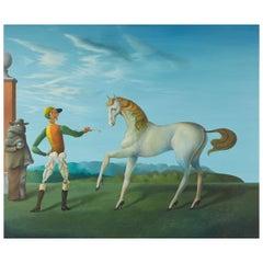 George Ronald Ferns Surrealist Oil Painting