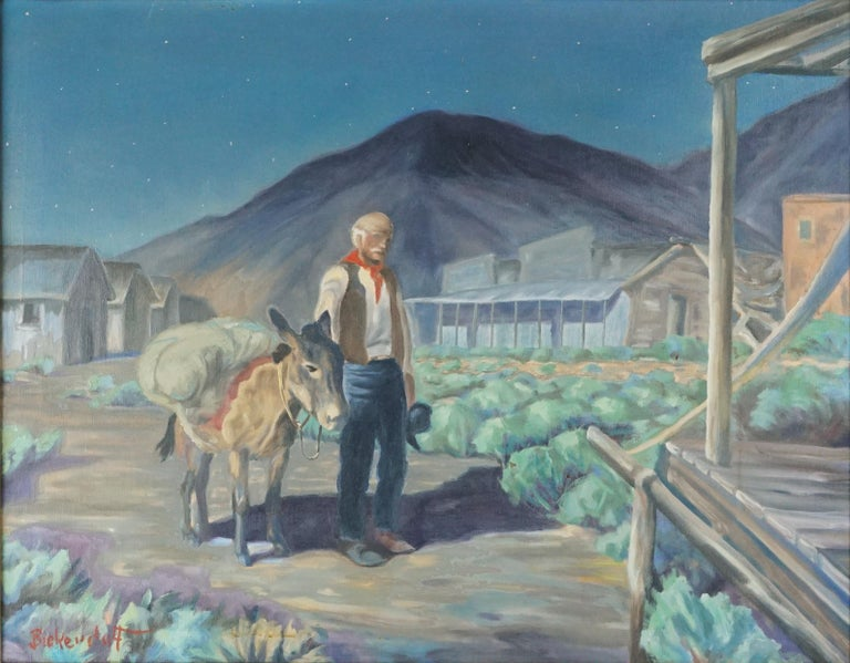 The Prospector at Dusk - Painting by George Sanders Bickerstaff