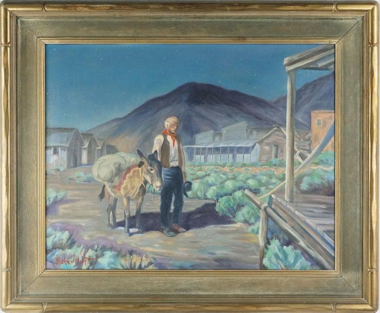George Sanders Bickerstaff Figurative Painting - The Prospector at Dusk