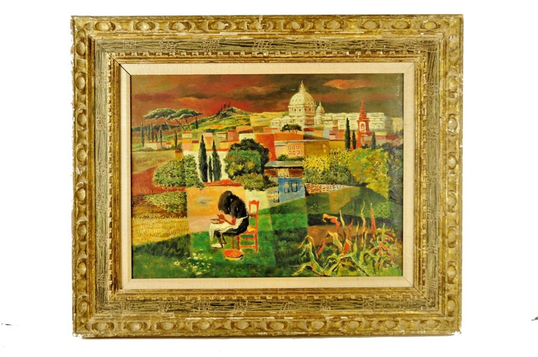George L. Sschreiber(1904-1977) was active/lived in New York and Belgium. George Schreiber is mostly known for rural genre and figure painting, lithography. George Schreiber was born 25 April 1904 in Brussels, Belgium. After studying in Berlin,