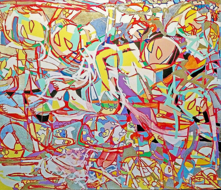 George Schulman Abstract Painting - Adoration